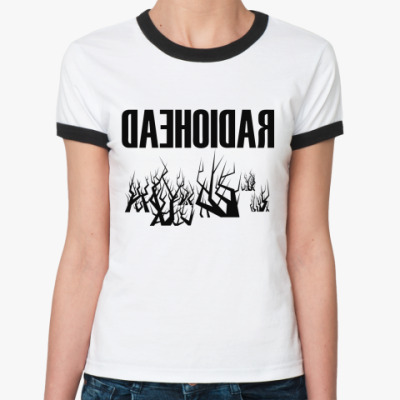 Женская футболка Ringer-T Radiohead