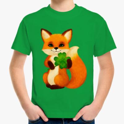 Детская футболка Пушистый лисенок