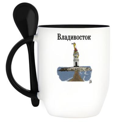 Кружка с ложкой Владивосток