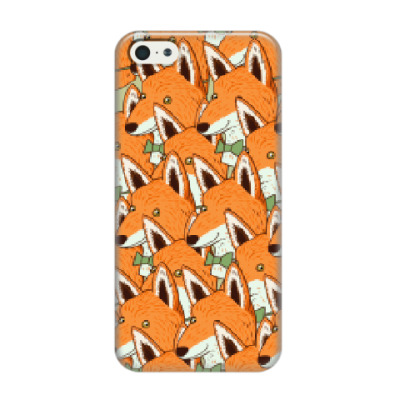 Чехол для iPhone 5/5s Любовь к лисичкам