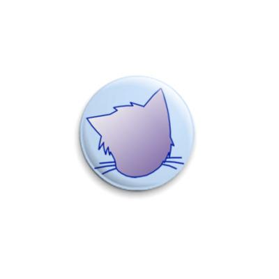 Значок 25мм  Голубой нэк