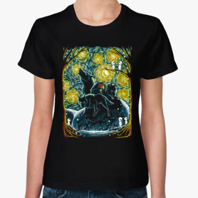 Женская футболка Звездный Лес Мононоке