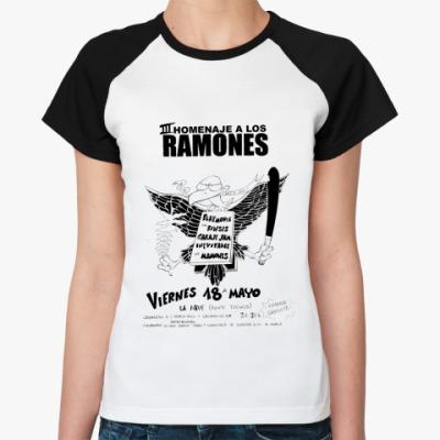 Женская футболка реглан Los Ramones  Ж()