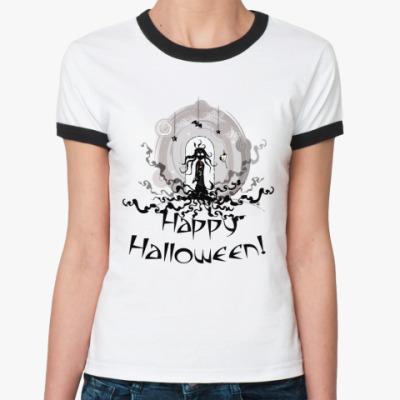 Женская футболка Ringer-T HapHall  Ж()