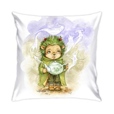 Подушка Зеленый ежик