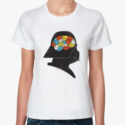 Классическая футболка Дарт Вейдер Френология