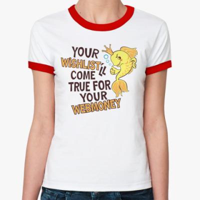 Женская футболка Ringer-T Золотая рыбка