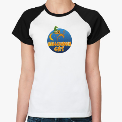 Женская футболка реглан Хэллоуин