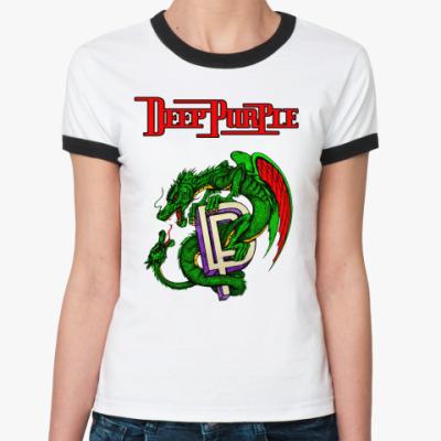 Женская футболка Ringer-T Deep Purple