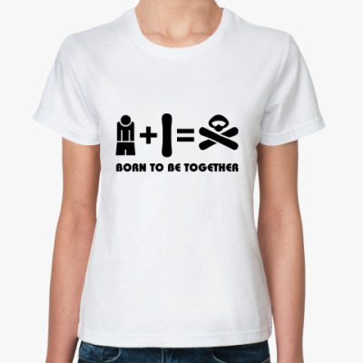 Классическая футболка Born to be together