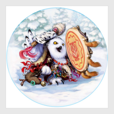 Постер Сова - сибирский шаман
