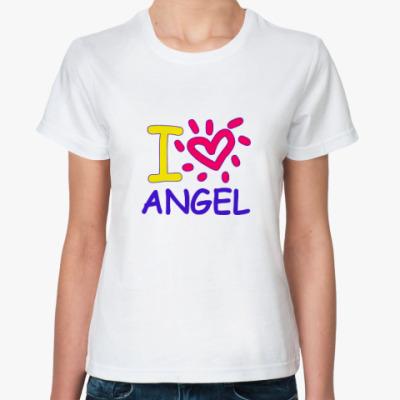 Классическая футболка Supernatural - Ангел