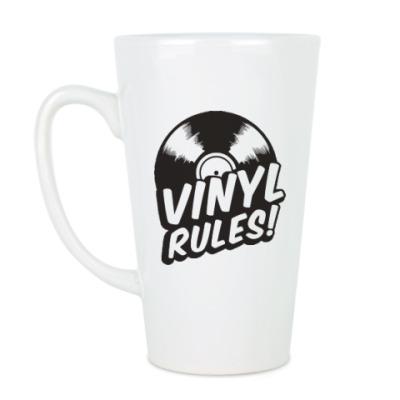 Чашка Латте Винил рулит!