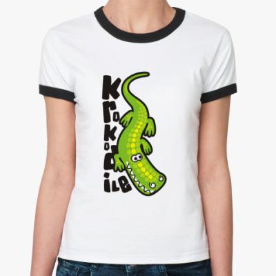 Женская футболка Ringer-T Krokodile