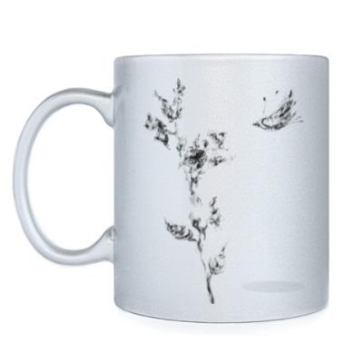 Кружка Странный цветок и Летучий Мыш