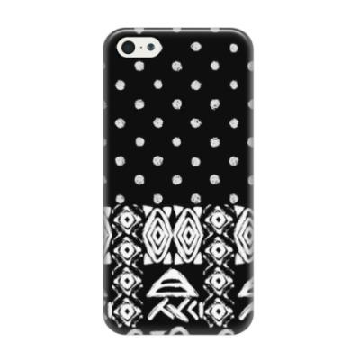 Чехол для iPhone 5/5s Гранжевый американский орнамент
