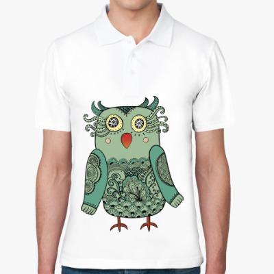 Рубашка поло Зеленая лесная совушка