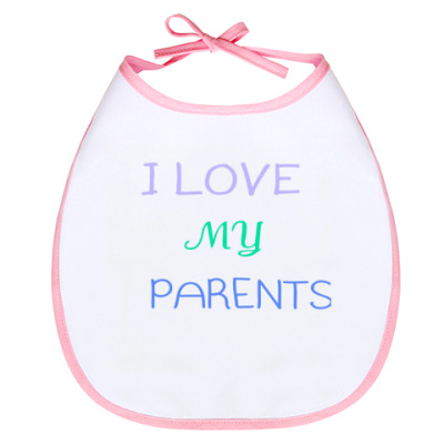 Слюнявчик I love parents