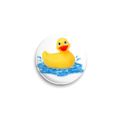 Значок 25мм  'Rubber duck'