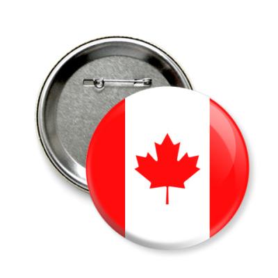 Значок 58мм Канада, Canada