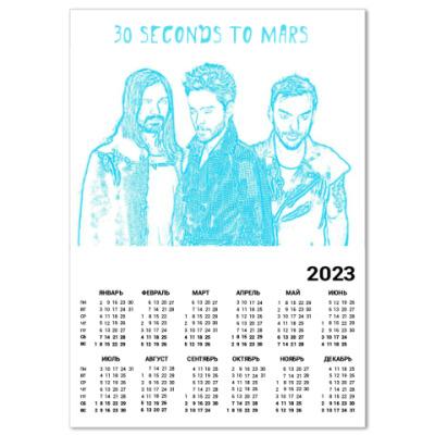 Календарь 30 Seconds to Mars
