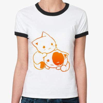 Женская футболка Ringer-T Котята
