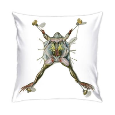 Подушка лягушка