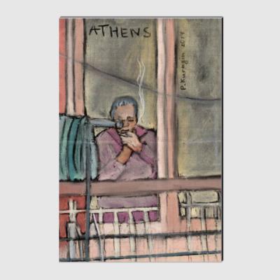 Холст Афины: грустный старичок