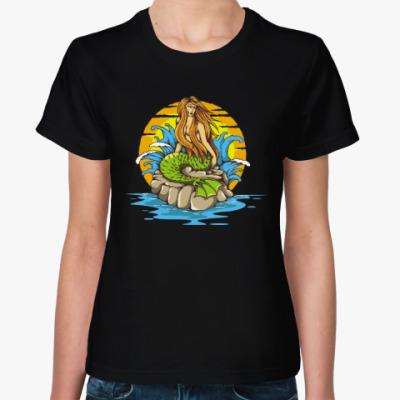 Женская футболка Море. Сирена.