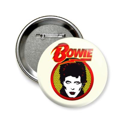 Значок 58мм David Bowie