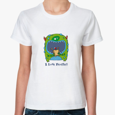 Классическая футболка 'I Love People!'