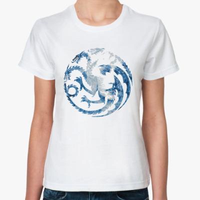 Классическая футболка Khaleesi and Dragons