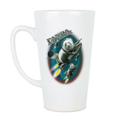 Чашка Латте Панды атакуют