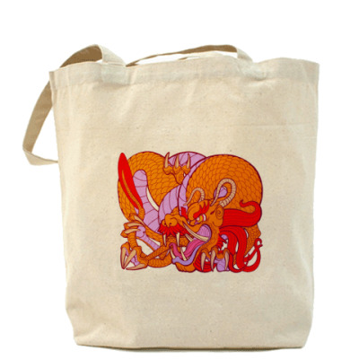 Сумка Дракон на сумке