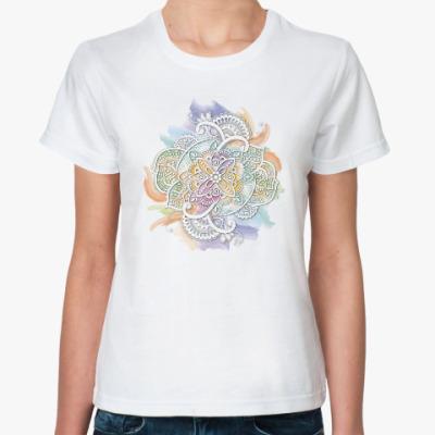 Классическая футболка Акварельное