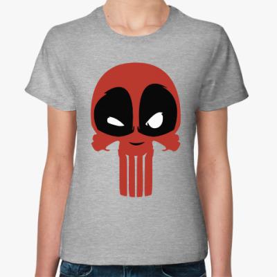 Женская футболка Дэдпул Каратель / Deadpool