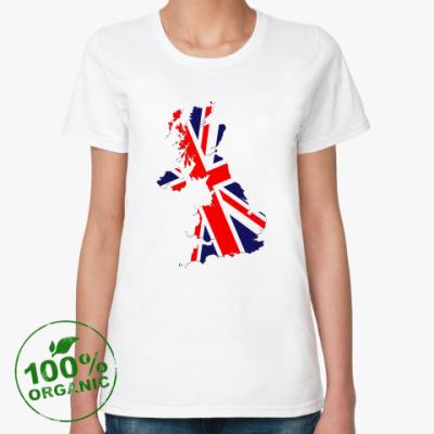 Женская футболка из органик-хлопка  Британский флаг