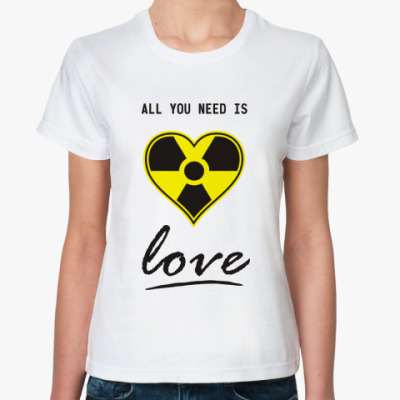 Классическая футболка 'Радиактивное сердце'