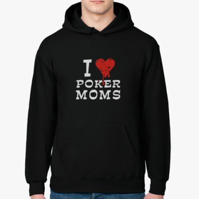 Толстовка худи I Love Poker Moms