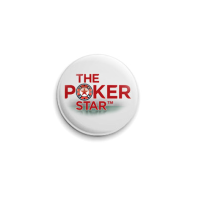Значок 25мм  Poker star