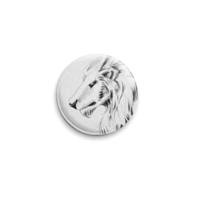 Значок 25мм эльфийский лев