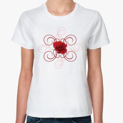 Классическая футболка Роза