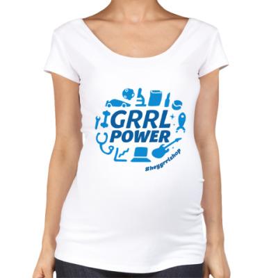 Футболка для беременных Grrl Power для беременных
