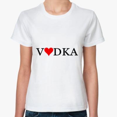 Классическая футболка водка