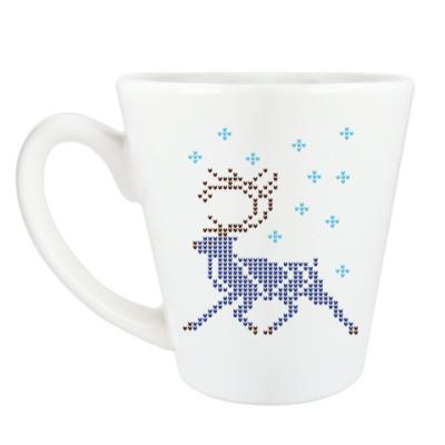 Чашка Латте Олень северный