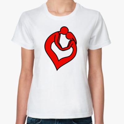 Классическая футболка пара сердце