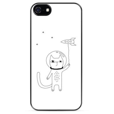 Чехол для iPhone Космический кот