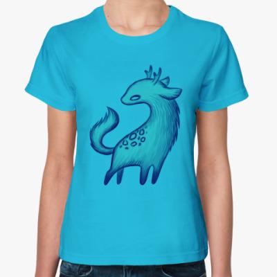 Женская футболка Зверь