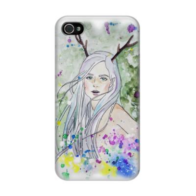 Чехол для iPhone 4/4s Лесная фея, эльф