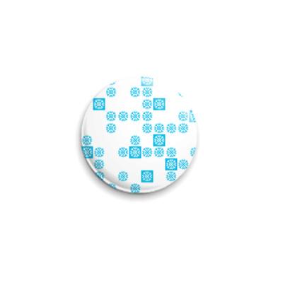 Значок 25мм голубые снежинки frozenlight